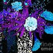 Midnight Callas And Orchids Abstract Art Print