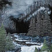 Midnight Falls Art Print