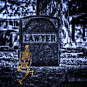 Midnight In The Graveyard With A Lawyer Art Print