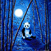Midnight Lullaby In A Bamboo Forest Art Print