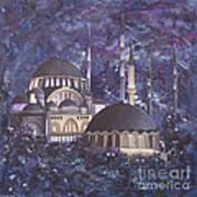 Midnight Mosque Art Print