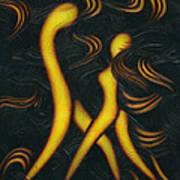 Midnight Tango. Art Print