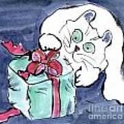 Midnight Under The Christmas Tree Art Print
