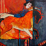 Midnight's Steed Art Print by Jennifer Croom