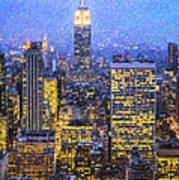 Midtown Manhattan And Empire State Building Art Print