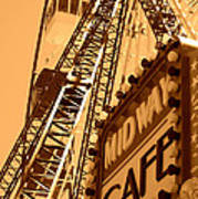 Midway Cafe Sepia Art Print