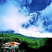 Le Milieu De Mont Blanc   Art Print