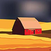 Midwest Barn Art Print