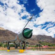 Mig-21 Fighter Plane Of Indian Air Force Used In Kargil War Displayed As Victorious Memory Art Print