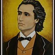 Mihai Eminescu  Art Print by Elena  Constantinescu