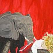 Mika And Elephant Art Print