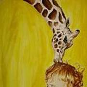 Mika And Giraffe Art Print
