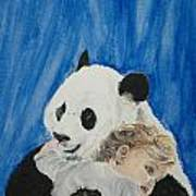 Mika And Panda Art Print