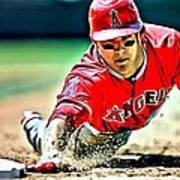 Mike Trout Painting Art Print