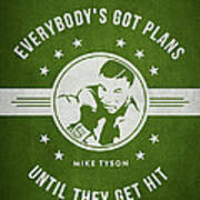 Mike Tyson - Green Art Print