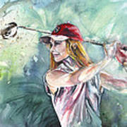 Miki Self Portrait Golfing Art Print
