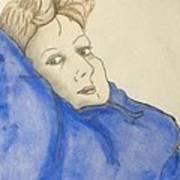 Mikki In Blue Art Print