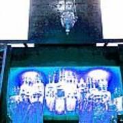 Eternal Light-in White And Blue Art Print