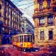 Milan Tram Art Print