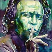 Miles Davis Watercolor Portrait.2 Art Print