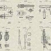 Military Equipment Patent Collection Art Print