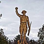 Military Soldier Memorial Art Print
