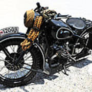 Military Style Bmw Motorcycle Art Print