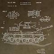 Military Tank Patent Art Print