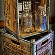 Milk Bottles And Crates Art Print