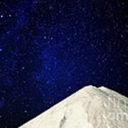 Milky Way Above White Mountain Art Print