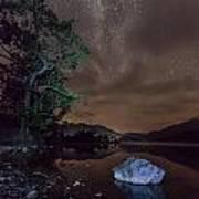 Milky Way At Gwenant Art Print