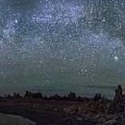 Milky Way At Mono Lake Art Print