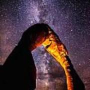Milky Way Explorer Art Print