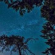 Milky Way Framed Trees Art Print