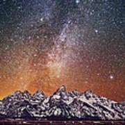 Milky Way Over Grand Teton Art Print