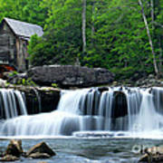 Mill And Waterfall Art Print