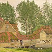Mill On The Thames At Mapledurham, 1860 Art Print
