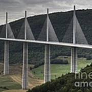Millau Viaduct In France Art Print