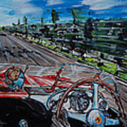 Mille Miglia On Board With Peter Collins Art Print
