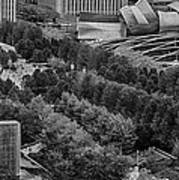Millenium Park From Above Art Print
