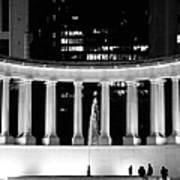 Millennium Monument And Fountain Chicago Art Print