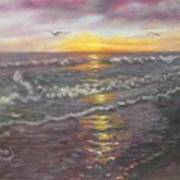 Miller Ocean Sunset Art Print