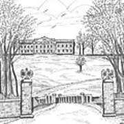 Mills Mansion Staatsburg Art Print