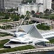 Milwaukee Art Museum Aerial Art Print