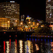 Milwaukee River And Downtown Skyline Art Print