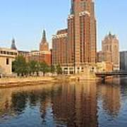 Milwaukee River Theater District 4 Art Print