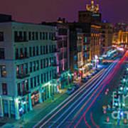 Milwaukee's Evening Active Glow Art Print