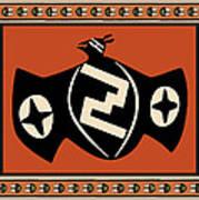 Mimbres Tribal Bat Spirit Art Print