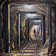 Mine Shaft Mural Art Print