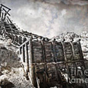 Mine Structure In Silver City Art Print